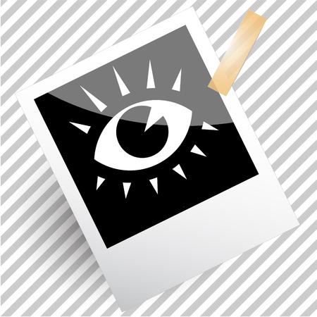 cilia: eye. Photoframe. Vector icon.