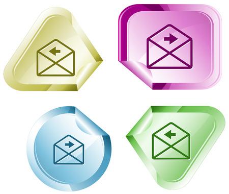 declinate: mail left arrow