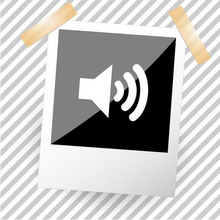 tweeter: loudspeaker in a photoframe Illustration