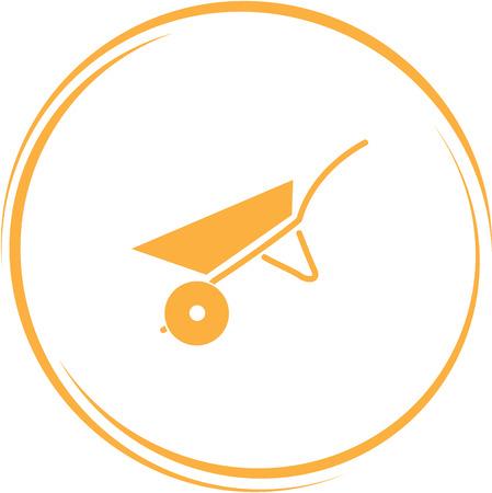 internet button: wheelbarrow. Internet button. Vector icon.