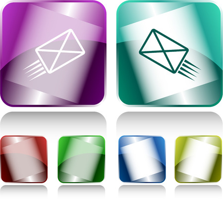buttons vector: send mail. Internet buttons. Vector illustration.