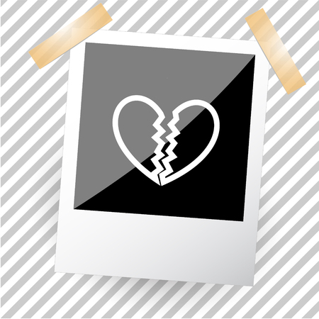 unrequited love: unrequited love. Photoframe. Vector icon. Illustration
