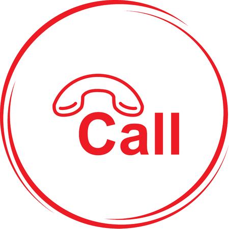 hotline: hotline. Internet button. Vector icon.