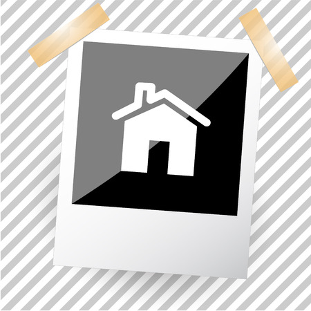 flue: home. Photoframe. Vector icon. Illustration