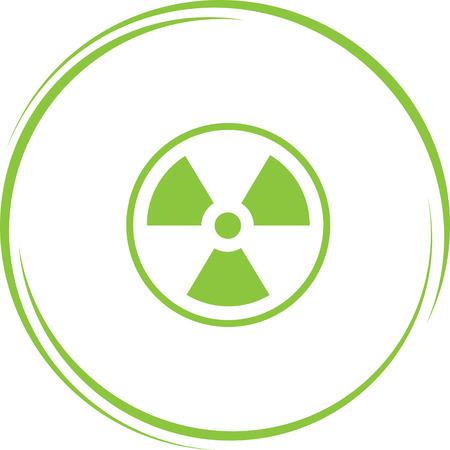 radiation symbol: radiation symbol. Internet button. Vector icon. Illustration