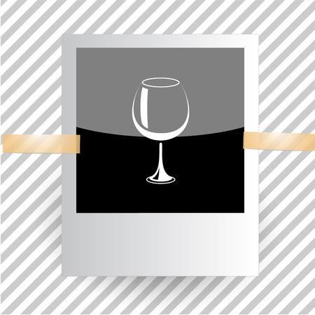 goblet: goblet. Photoframe. Vector icon.
