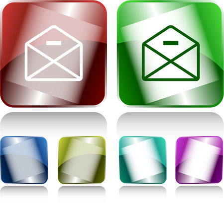 buttons vector: mail minus. Internet buttons. Vector illustration.