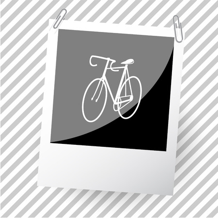 pedaling: bicycle. Photoframe. Vector icon.