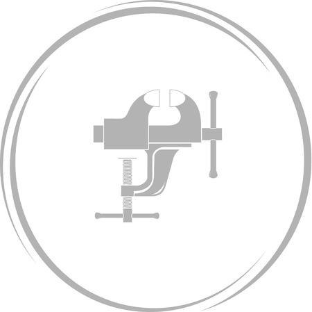 clamp: clamp. Internet button. Vector icon. Illustration