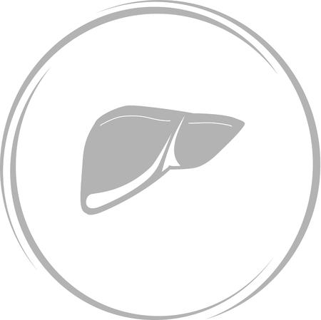 vitals: liver. Internet button. Vector icon.