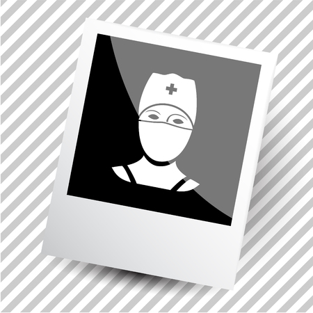 photoframe: doctor. Photoframe. Vector icon. Illustration