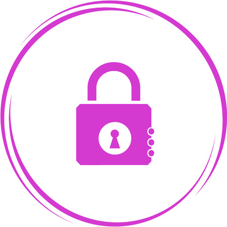 encryption icon: closed lock. Internet button. Vector icon. Illustration