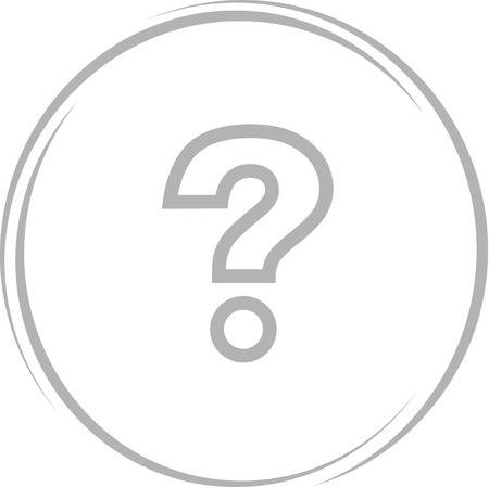 query sign. Internet button. Vector icon. Illustration