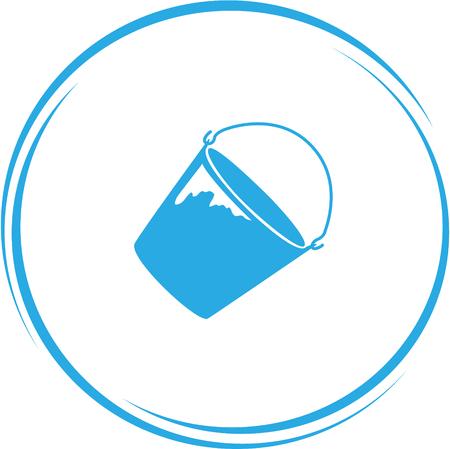 pail tank: bucket. Internet button.