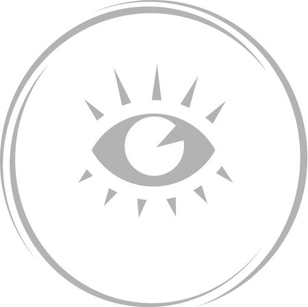 cilia: eye. Internet button.