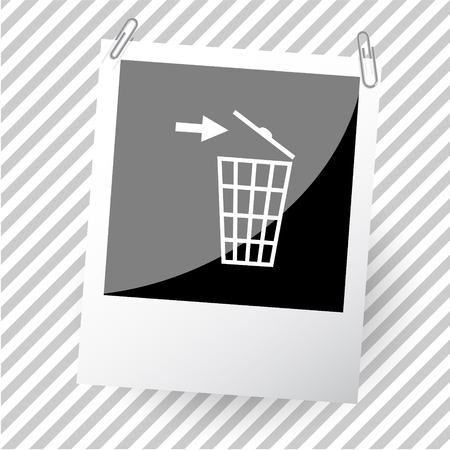 recycling bin: recycling bin. Photoframe. Vector icon. Illustration