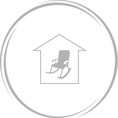 comfort: home comfort. Internet button. Vector icon.