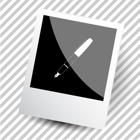 photoframe: ink pen. Photoframe. Vector icon. Illustration