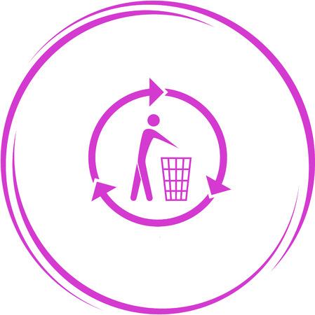 pleading: recycling bin. Internet button. Vector icon.