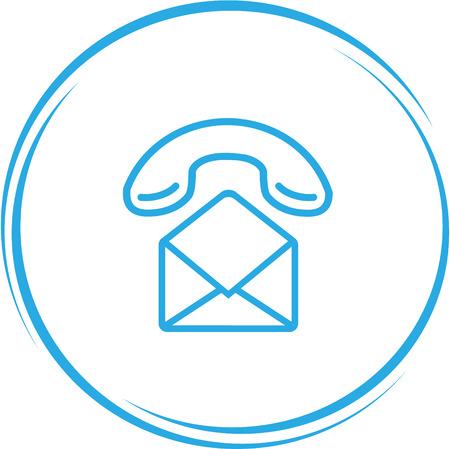 handset: mail with handset. Internet Illustration