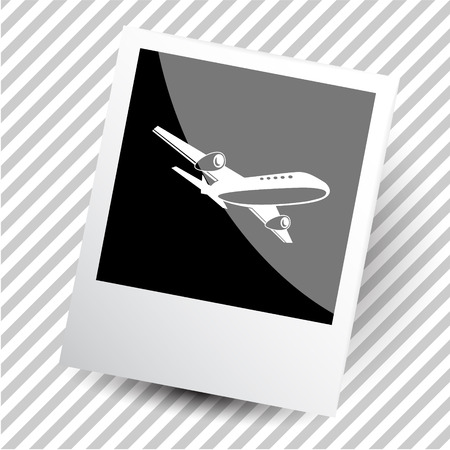 airliner: airliner. Photoframe. Illustration