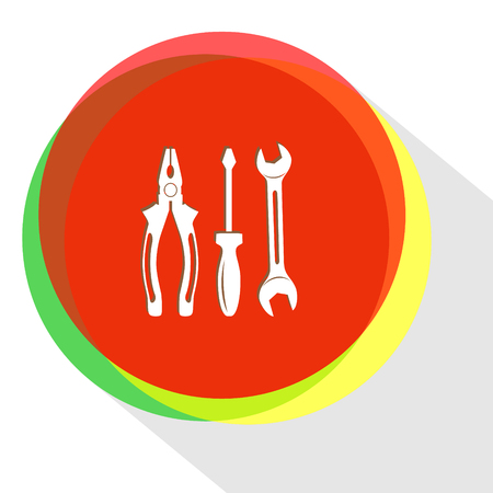 crescent wrench: tools. Internet template.  icon.