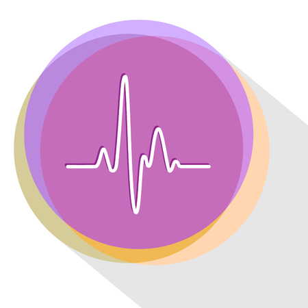 cardiogram: cardiogram. Internet template. icon. Illustration