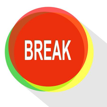 break. Internet template. icon.