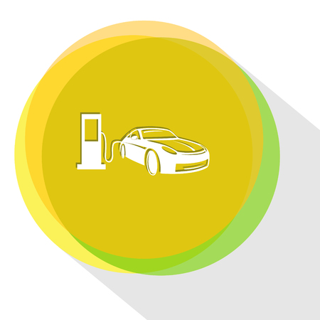 servicing: car fueling. Internet template.  icon. Illustration