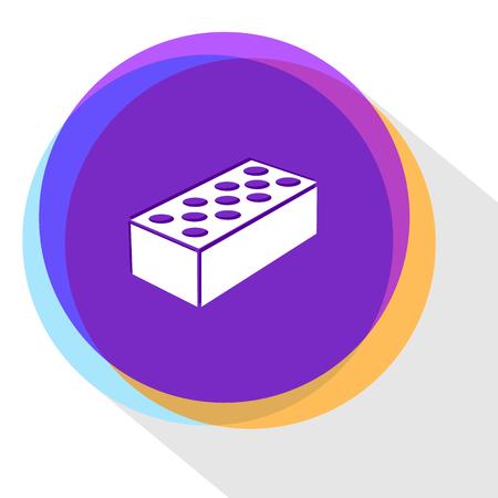 building block: hollow brick. Internet template. Vector icon.