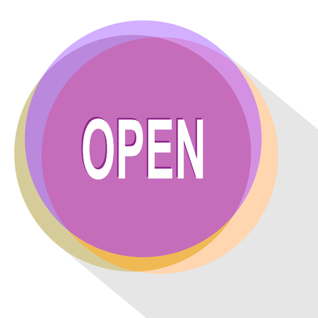 unrestricted: open. Internet template. Vector icon.