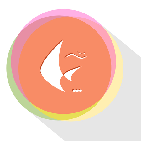 spawn: fish. Internet template. Vector icon.