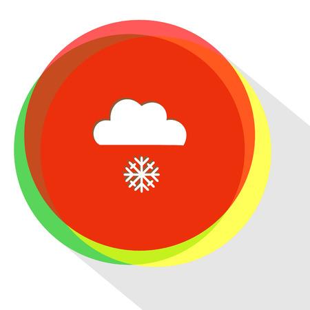 snowfall: snowfall. Internet template. Vector icon.