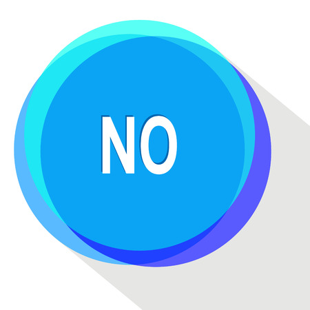 undoing: no. Internet template. Vector icon.