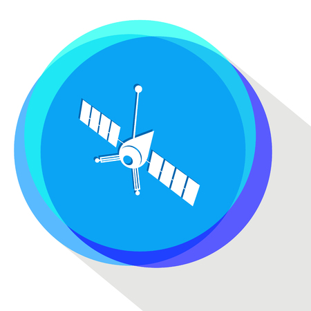 artificial satellite: spaceship. Internet template. Vector icon.
