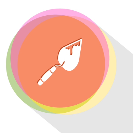 trowel: trowel. Internet template. Vector icon.