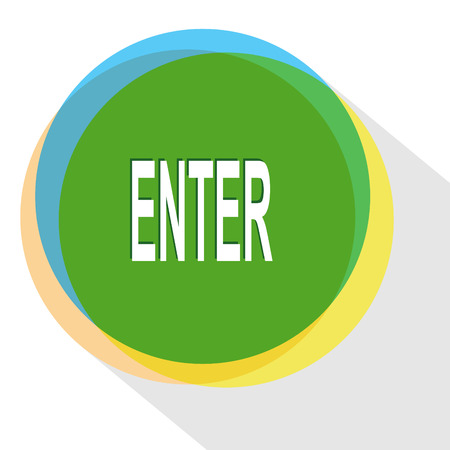assent: enter. Internet template. Vector icon.