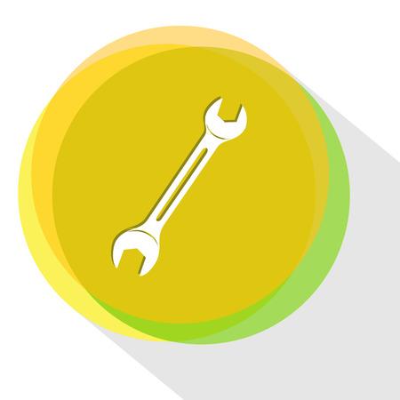 apalancamiento: llave. plantilla Internet. Icono del vector. Vectores