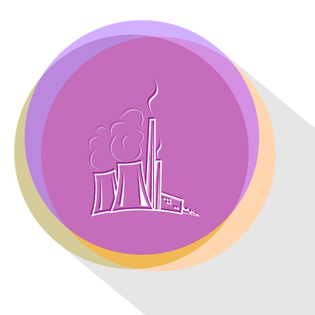 thermal: thermal power engineering. Internet template. Vector icon.