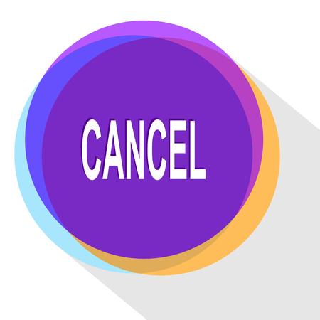 disabling: cancel. Internet template. Vector icon. Illustration