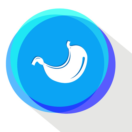 sphincter: stomach. Internet template. Vector icon.