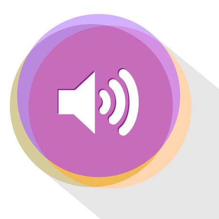 sonic: loudspeaker. Internet template. Vector icon.