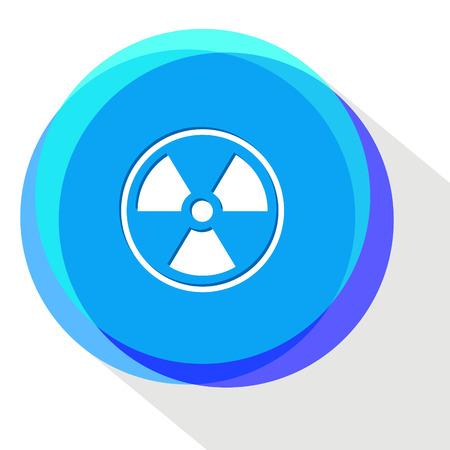 radiation symbol: radiation symbol. Internet template. Vector icon.