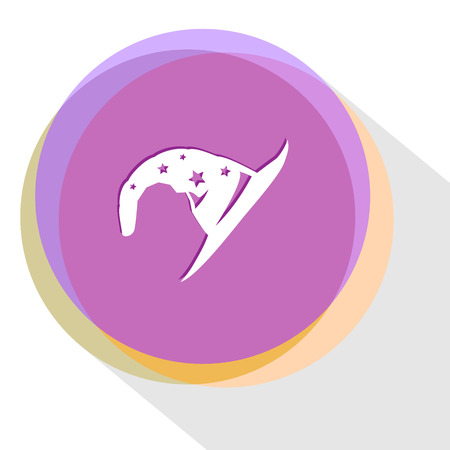 astrologer: astrologers hat. Internet template. Vector icon. Illustration