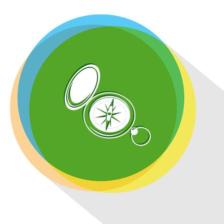 azimuth: compass. Internet template. Vector icon.