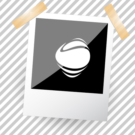 uniqueness: unique abstract forms. Photoframe. Vector icon.