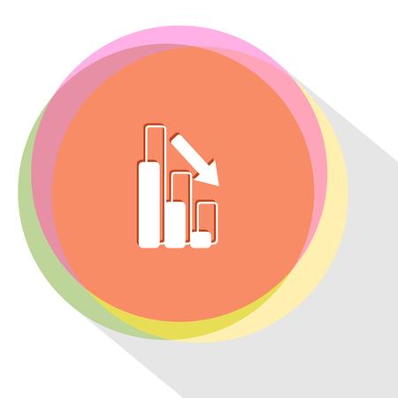 graph degress. Internet template. Vector icon. Illustration
