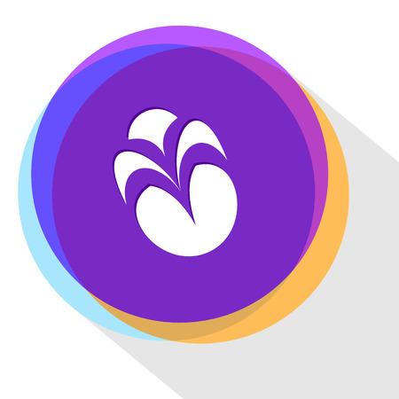 the unique: unique abstract forms. Internet template. Vector icon.