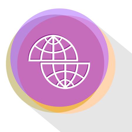 shift: shift globe. Internet template. Vector icon.