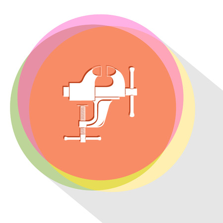 clamp. Internet template. Vector icon.